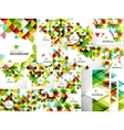 Set of abstract geometric flyer templates vector