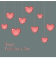 Valentine card template with wish vector