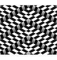 3d checkered black white seamless pattern vector