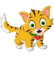 Cute little cat cartoon posing vector