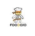 Cartoon karate food chef vector
