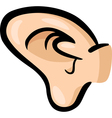 Ear clip art cartoon vector