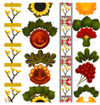Floral pattern with elements of painting petrikov vector