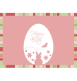Easter egg with greeting on a pink backgrou vector