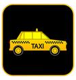 Taxi car button vector