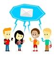Broadcast message at school vector