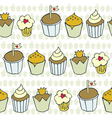 Cupcake patterns vector