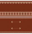 Brown card with beige ornament vector