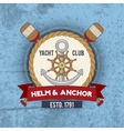 Nautical emblem vintage vector