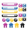 Colorful glossy web buttons vector