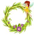 Fairy floral frame vector