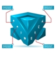 Abstract 3d cube isolated infographic with vector