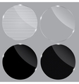 Set of realistic glass frames vector