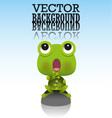 Cute little frog vector