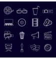 Cinema icons set outline vector