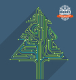 Abstract christmas tree metro scheme vector