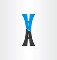 Letter a autoroute highway icon design vector