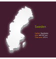 3d map of sweden vector