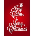 Christmas vintage lettering card background vector