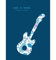Blue and pink kimono blossoms guitar music vector