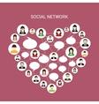 Social network heart vector