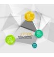 Business geometric option steps infographics vector
