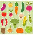 Cute vegetables healthy food vector