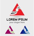 Abstract triangle logo icon use in the media vector