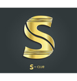 Golden symbol from alphabet letter s vector