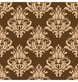Brown and beige floral seamless pattern vector