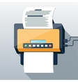 Fax icon in flat design long shadow style vector
