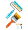 Maintenance tools brushes and vector