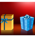 Cute holiday gift boxes vector