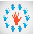 Flat icon hands color abstraction eps vector