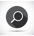 Search flat icon with long shadow vector