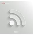 Rss icon - white app button vector
