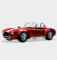 Classic sport red car ac shelby cobra roadster vector