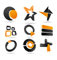 3d logo forms vector