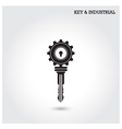 Key and industry sign vector