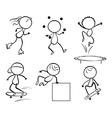 Silhouettes of the different activities vector