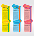 Colorful vertical banners eps10 vector