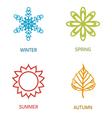 Four season vector