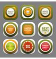 Set of modern design labels eps 10 vector