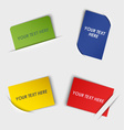 Set of colorful rectangular labels in your pocket vector