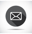 Mail flat icon with long shadow vector
