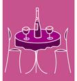 Cute restaurant table vector
