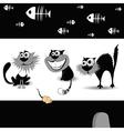 Cats black vector