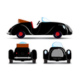 Cartoon black car vector