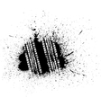Grunge tire track vector