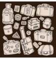 Vintage suitcases set travel vector